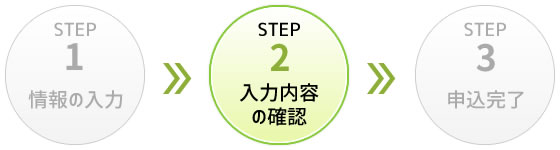 STEP2 入力内容の確認